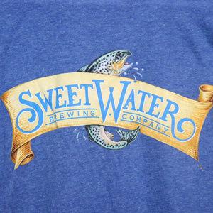 Sweet Water Brewing Fish Sea Bass Shirt Beer XL